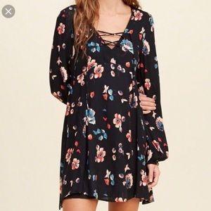 Hollister long sleeve floral dress